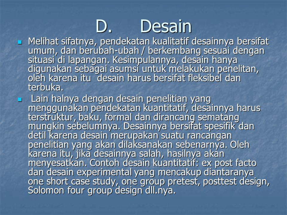 D. Desain