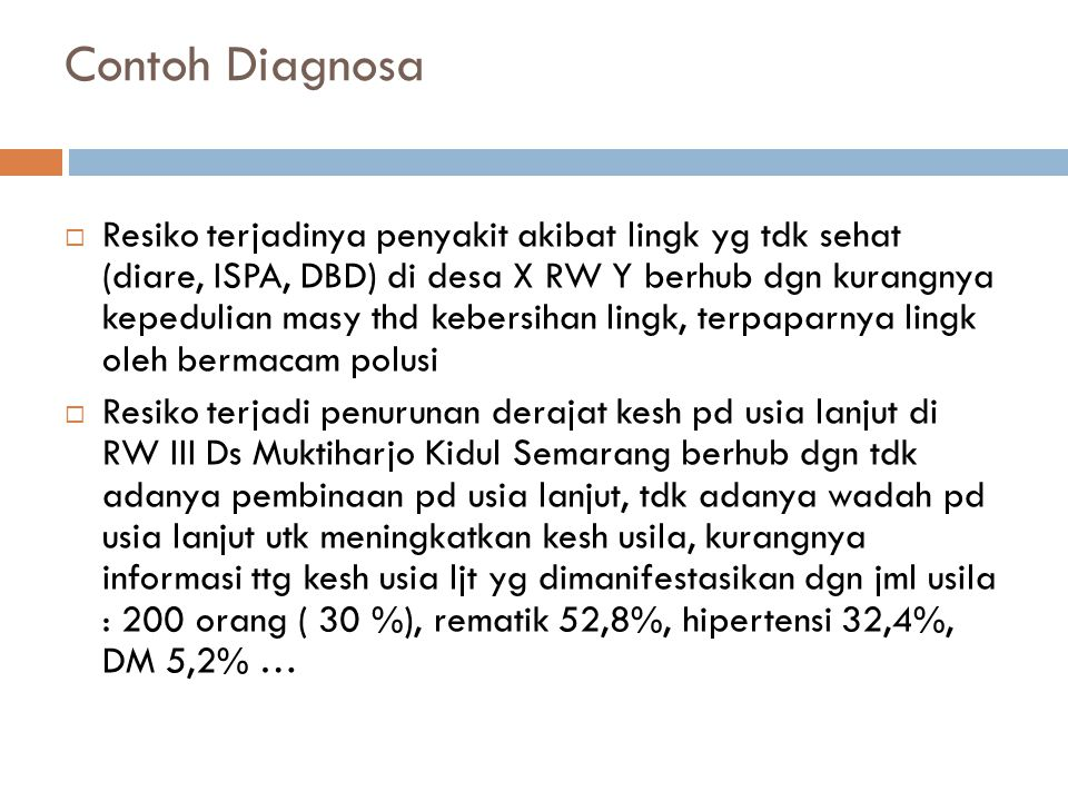Contoh Diagnosa