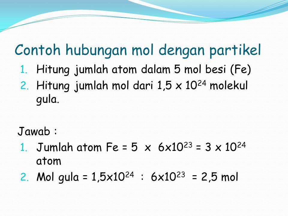 Contoh hubungan mol dengan partikel