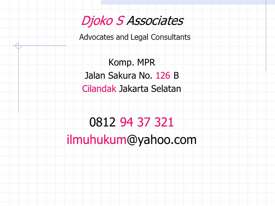Djoko S Associates Advocates and Legal Consultants
