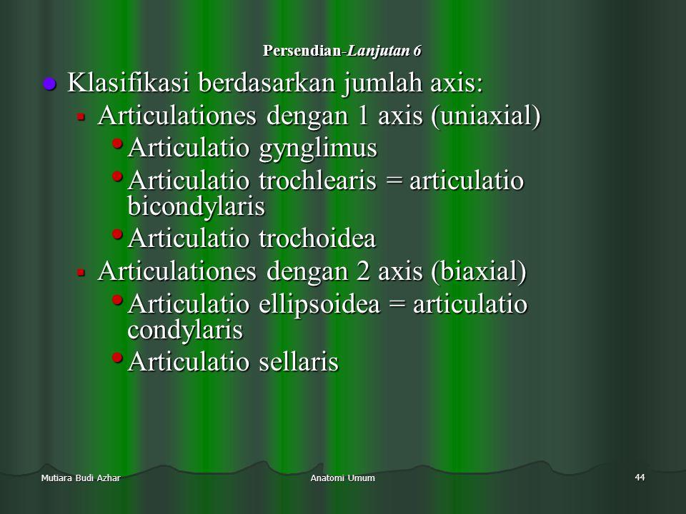 Klasifikasi berdasarkan jumlah axis: