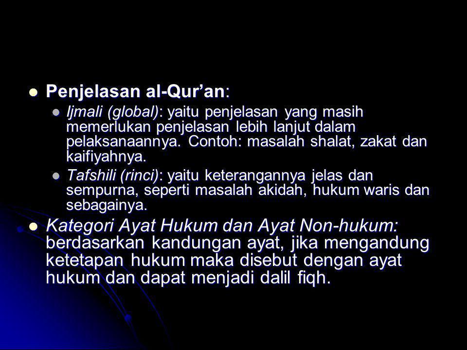 Penjelasan al-Qur'an: