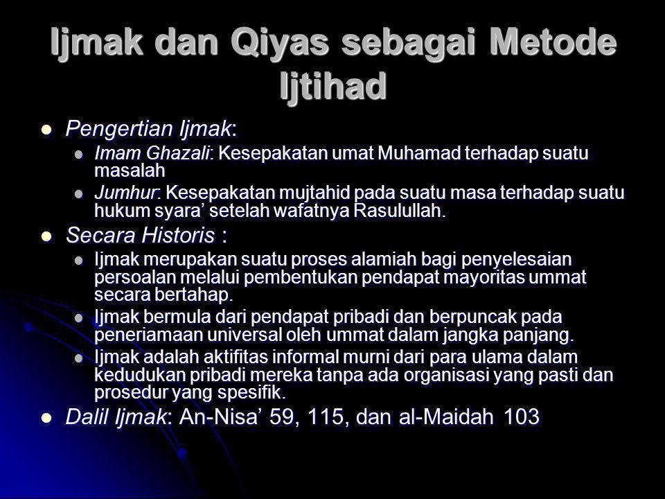 Ijmak dan Qiyas sebagai Metode Ijtihad