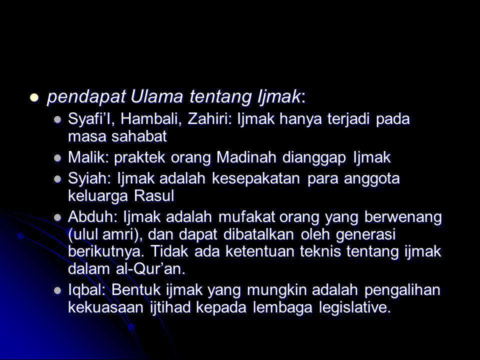 pendapat Ulama tentang Ijmak: