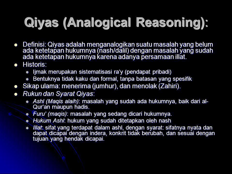 Qiyas (Analogical Reasoning):