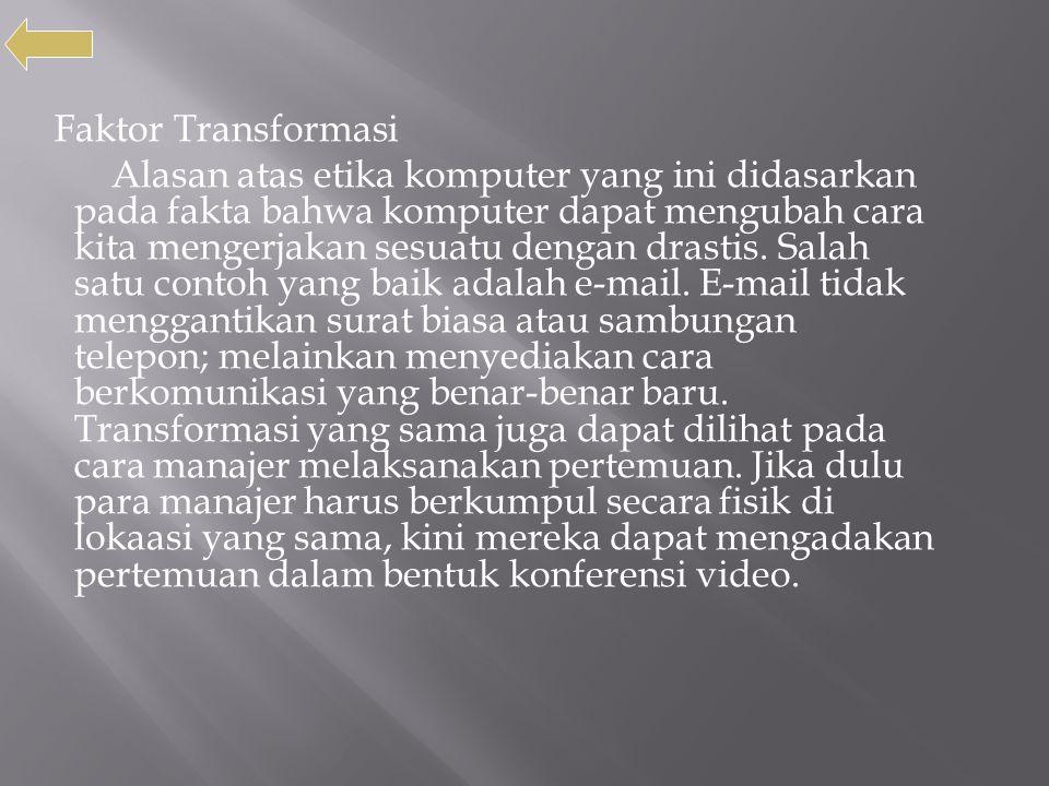 Faktor Transformasi