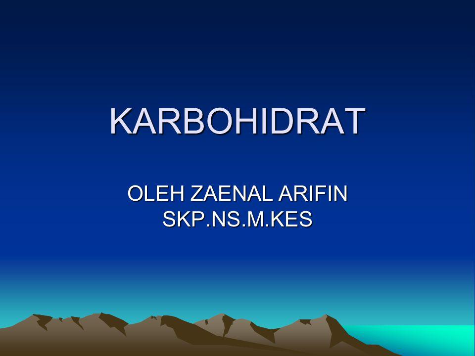 OLEH ZAENAL ARIFIN SKP.NS.M.KES