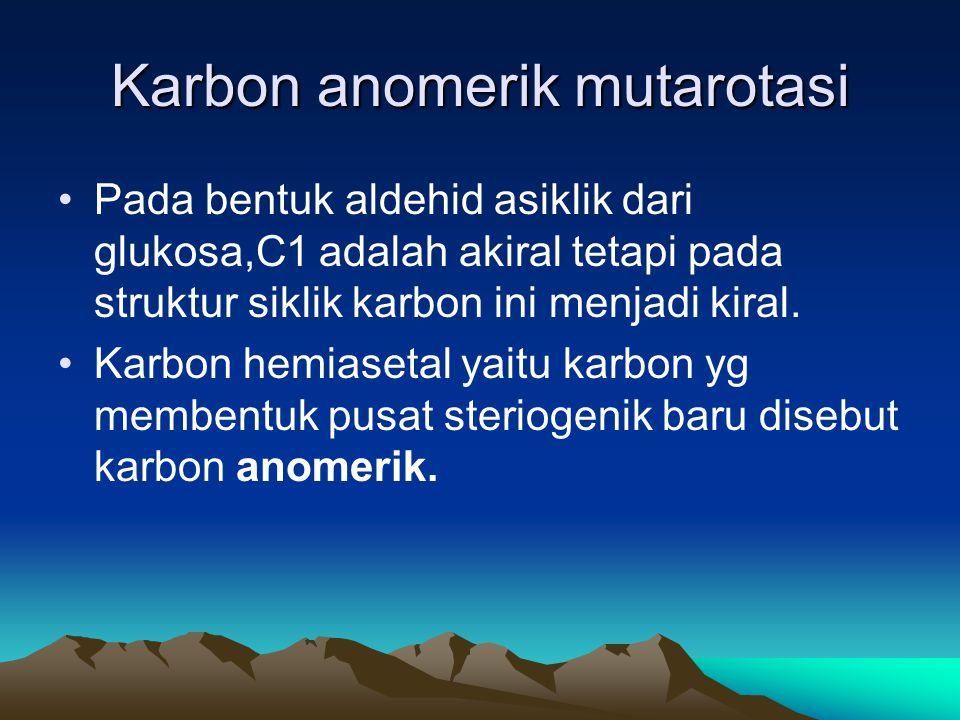 Karbon anomerik mutarotasi