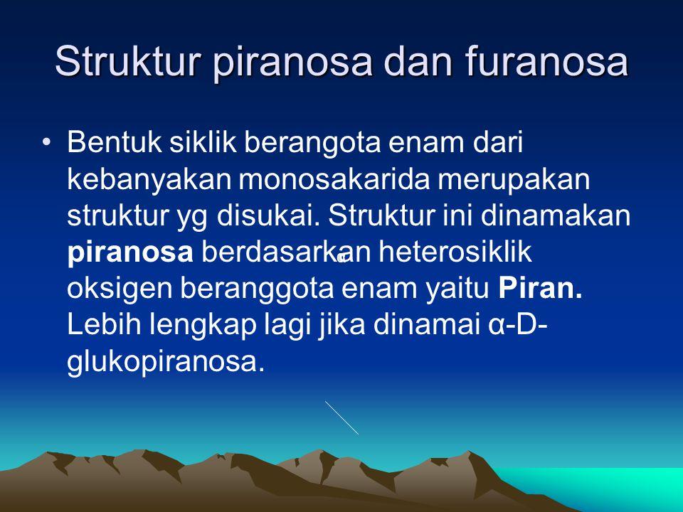Struktur piranosa dan furanosa