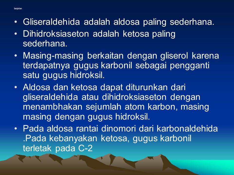 Gliseraldehida adalah aldosa paling sederhana.
