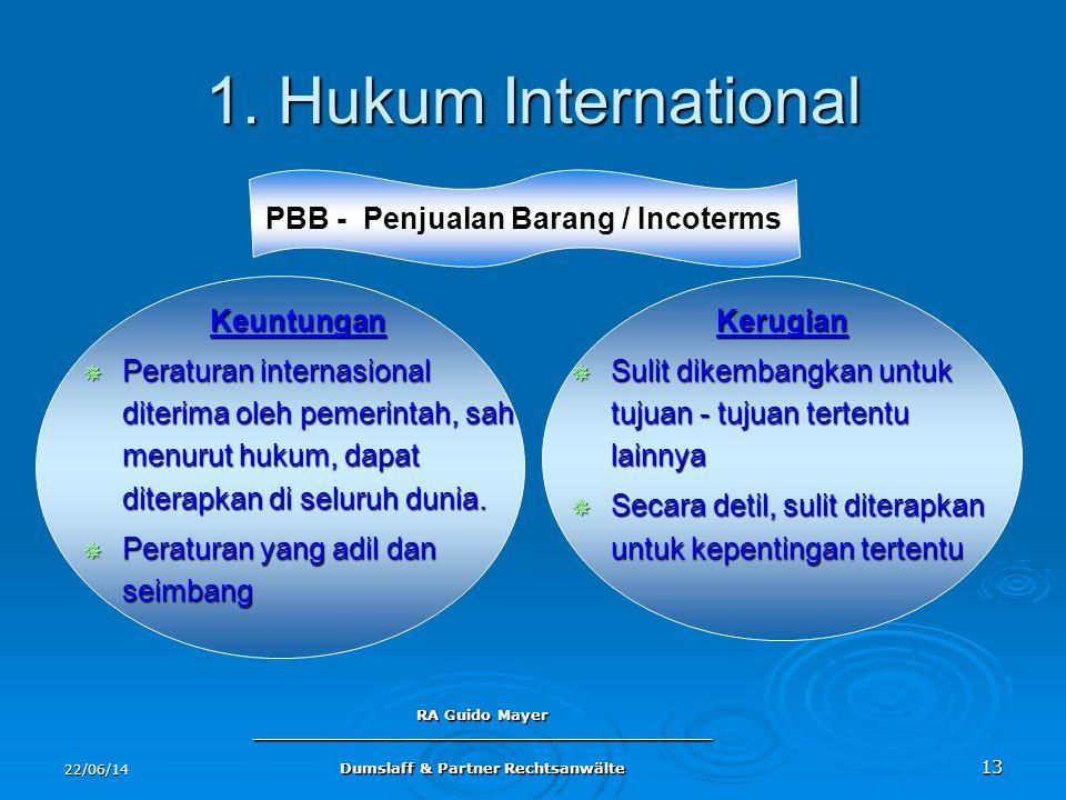 1. Hukum International PBB - Penjualan Barang / Incoterms Keuntungan