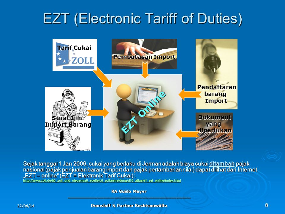 EZT (Electronic Tariff of Duties)