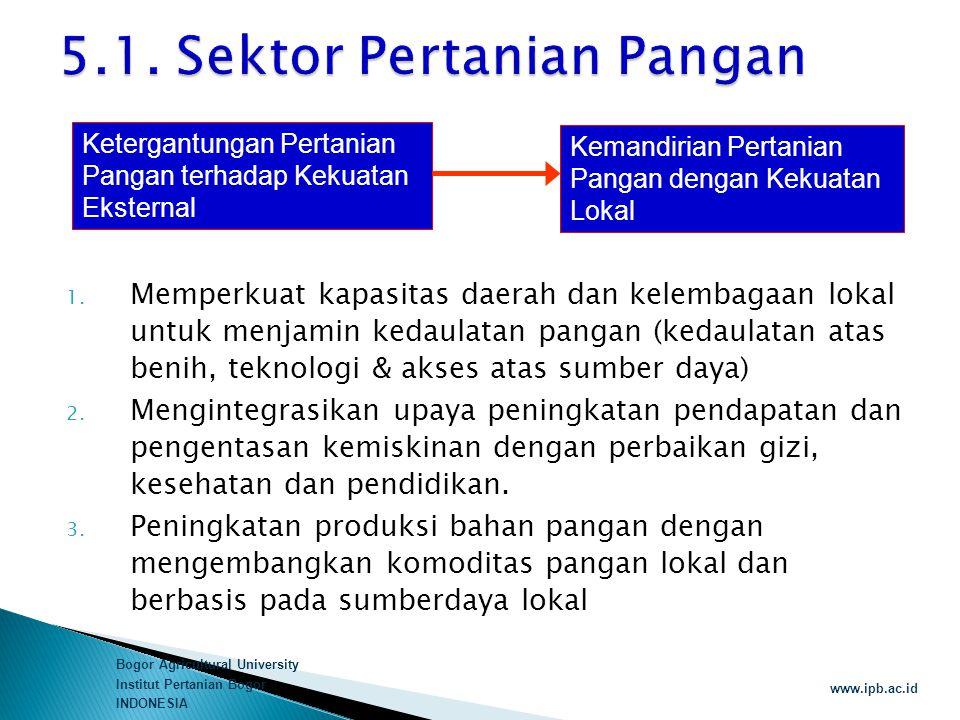 5.1. Sektor Pertanian Pangan