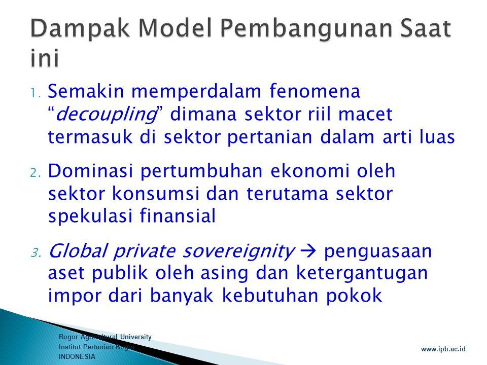 Dampak Model Pembangunan Saat ini