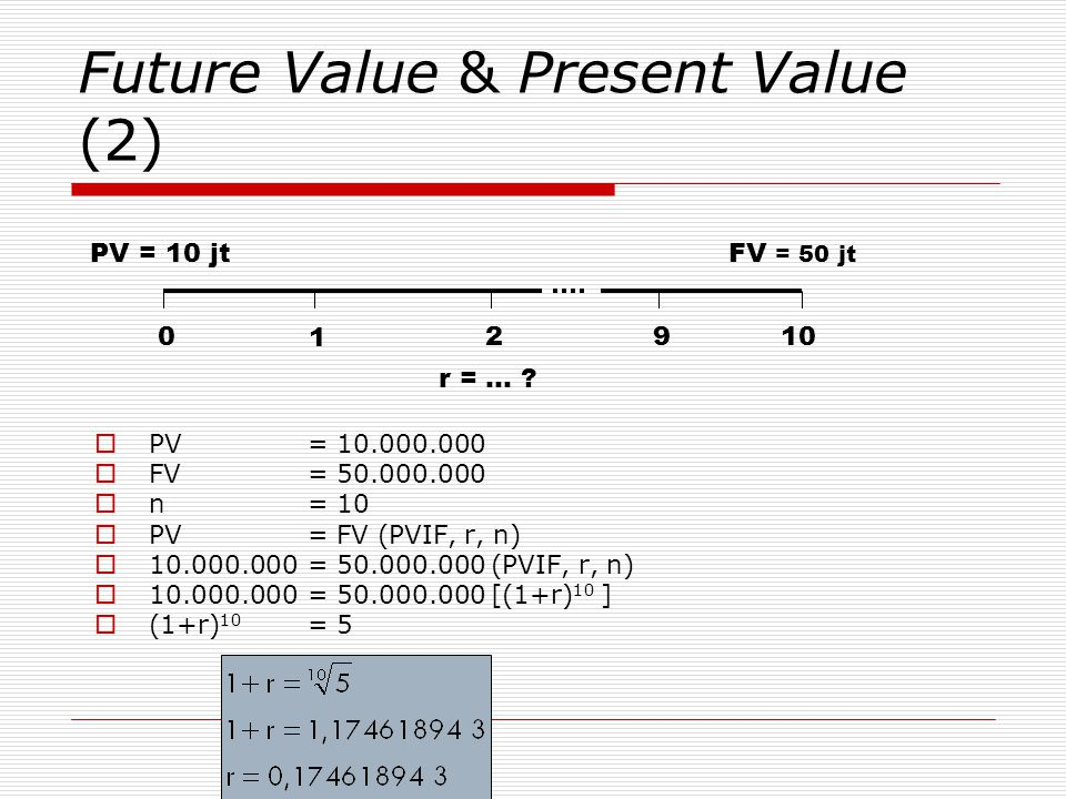 Future Value & Present Value (2)
