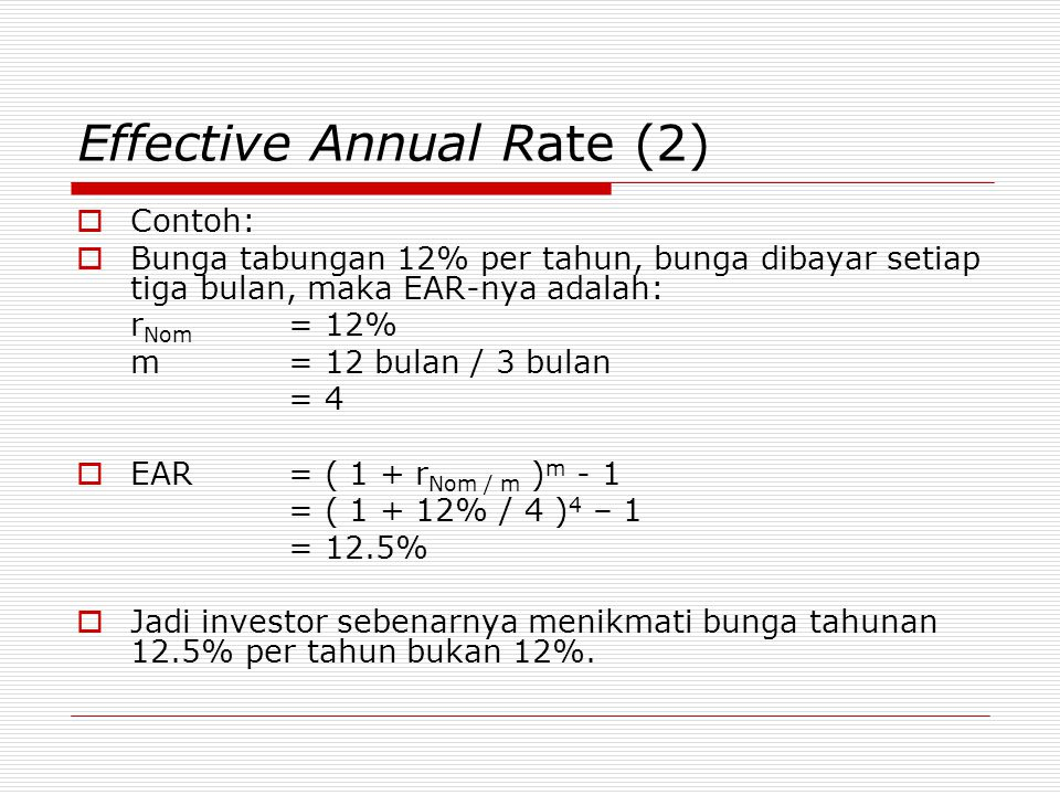 Effective Annual Rate (2)