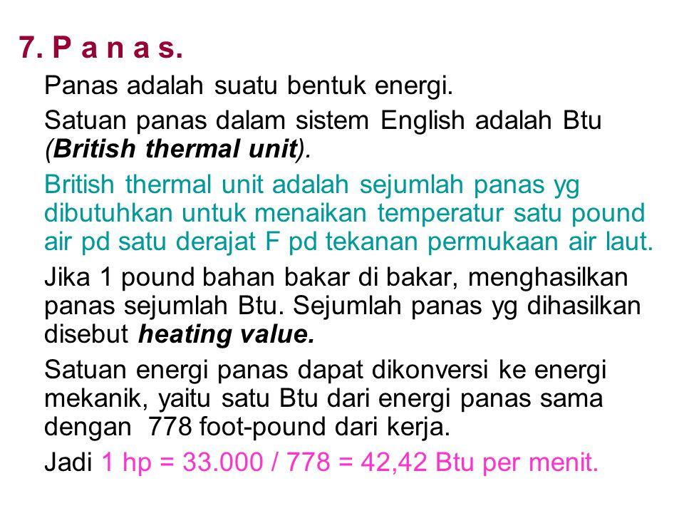 7. P a n a s. Panas adalah suatu bentuk energi.