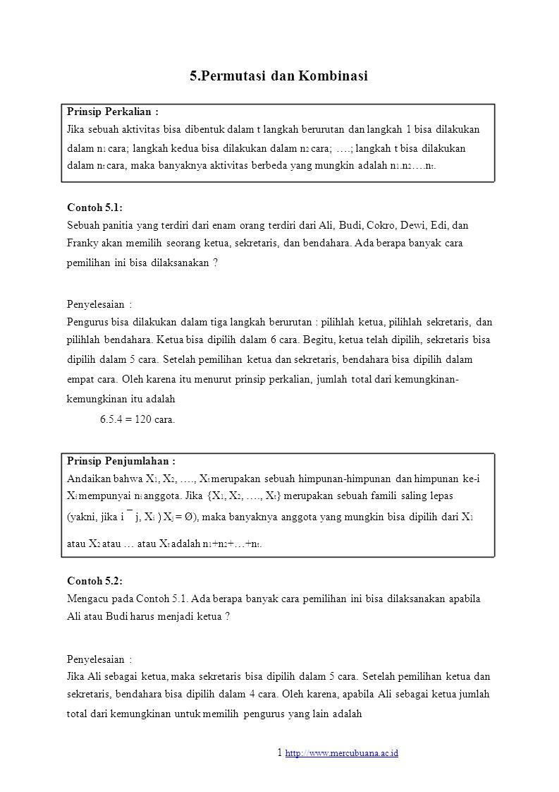 5.Permutasi dan Kombinasi