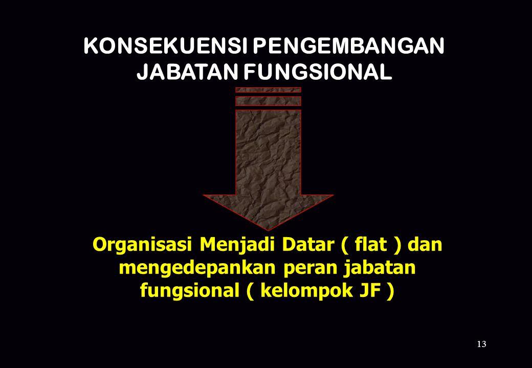 KONSEKUENSI PENGEMBANGAN JABATAN FUNGSIONAL