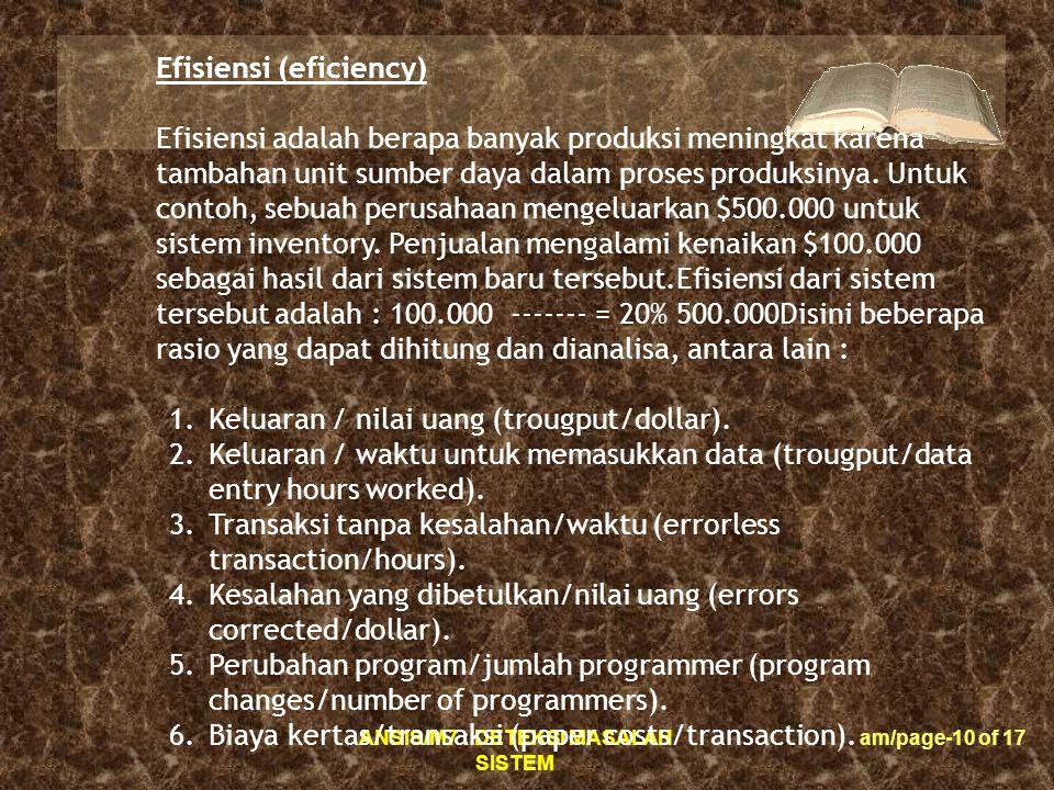 Efisiensi (eficiency)