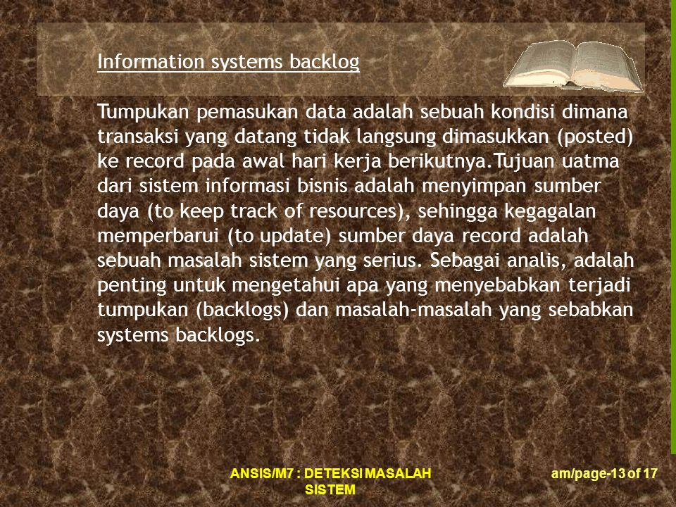 Information systems backlog