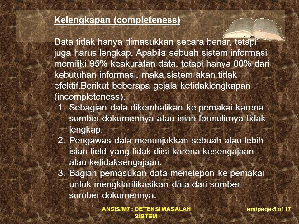 Kelengkapan (completeness)