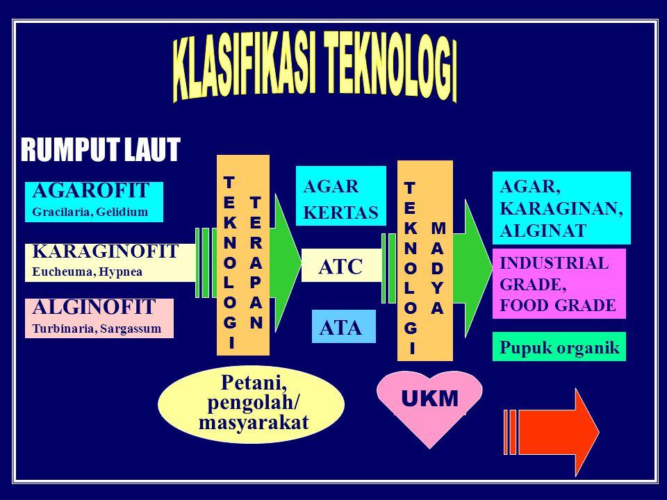 KLASIFIKASI TEKNOLOGI Petani, pengolah/ masyarakat