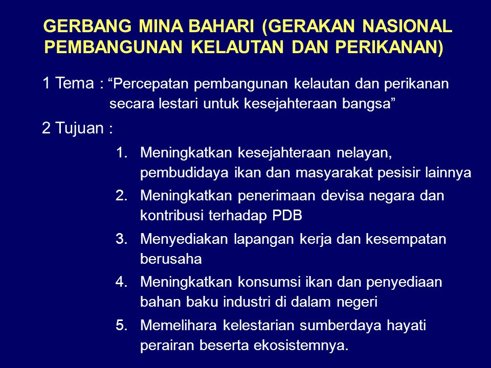 GERBANG MINA BAHARI (GERAKAN NASIONAL PEMBANGUNAN KELAUTAN DAN PERIKANAN)