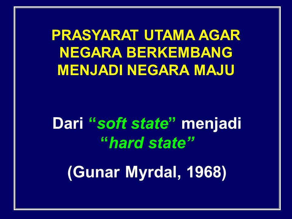 Dari soft state menjadi hard state (Gunar Myrdal, 1968)