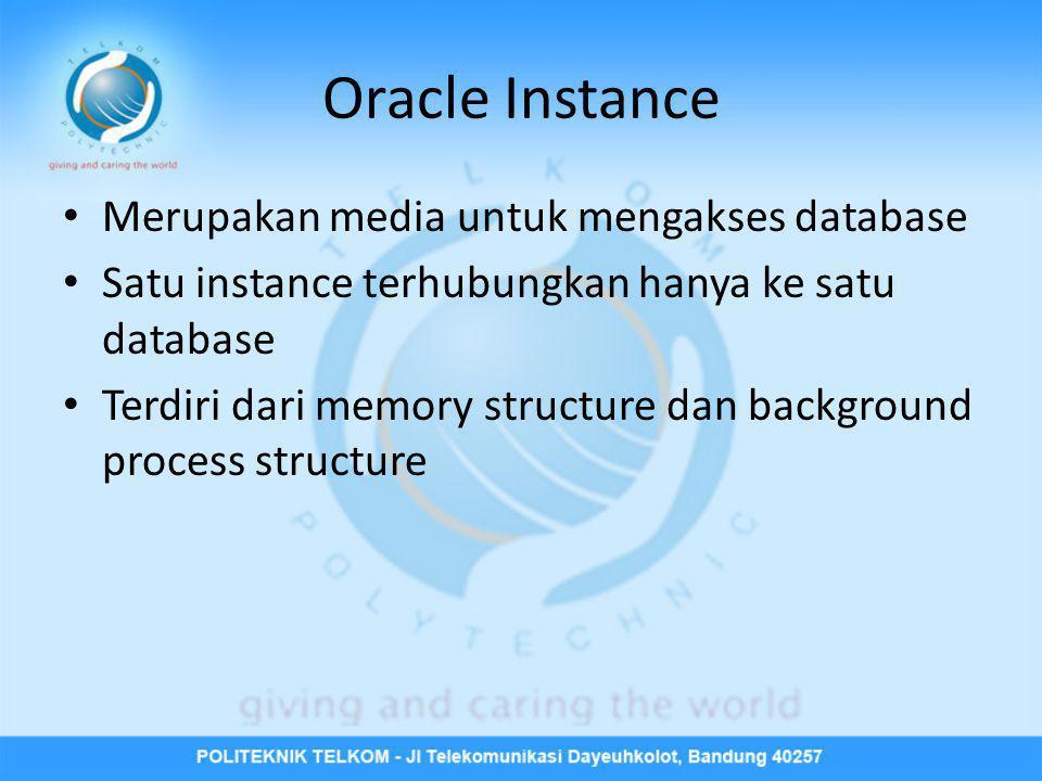 Oracle Instance Merupakan media untuk mengakses database