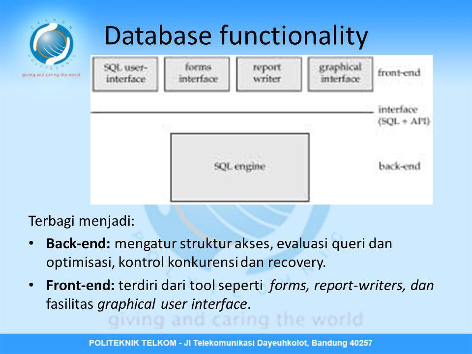 Database functionality