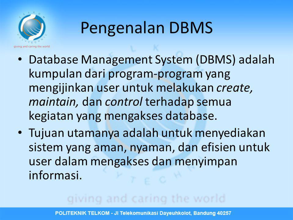 Pengenalan DBMS