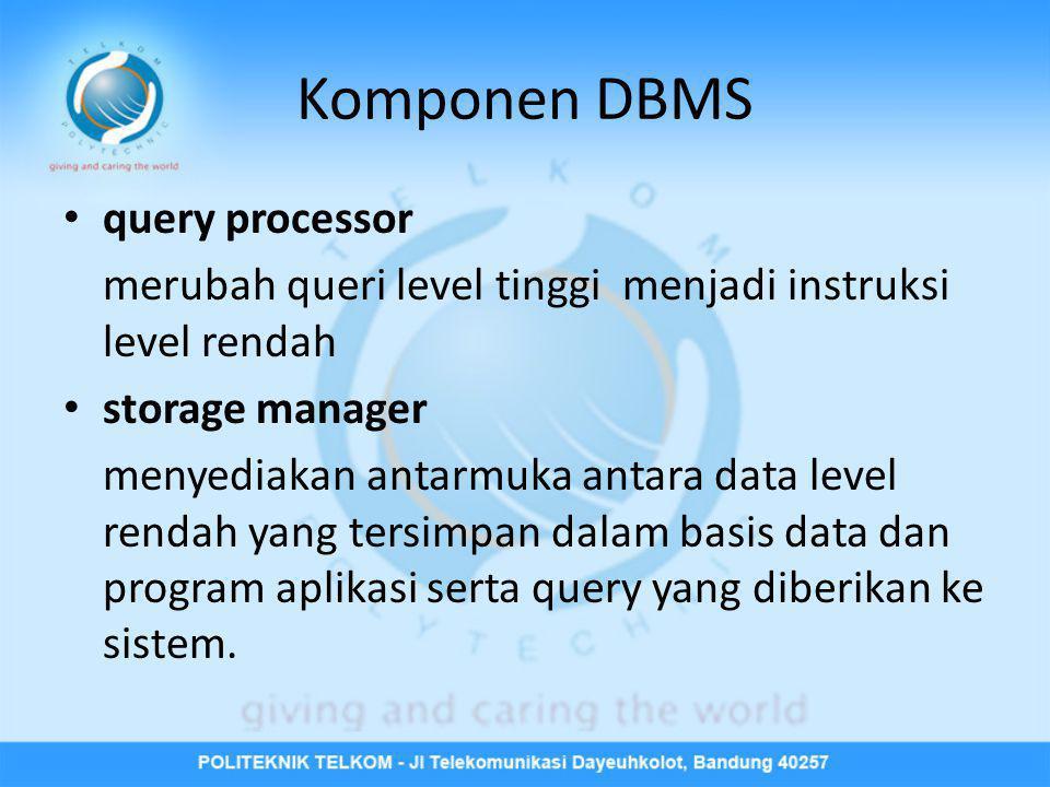 Komponen DBMS query processor