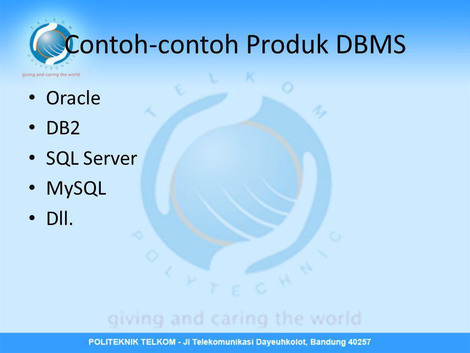 Contoh-contoh Produk DBMS