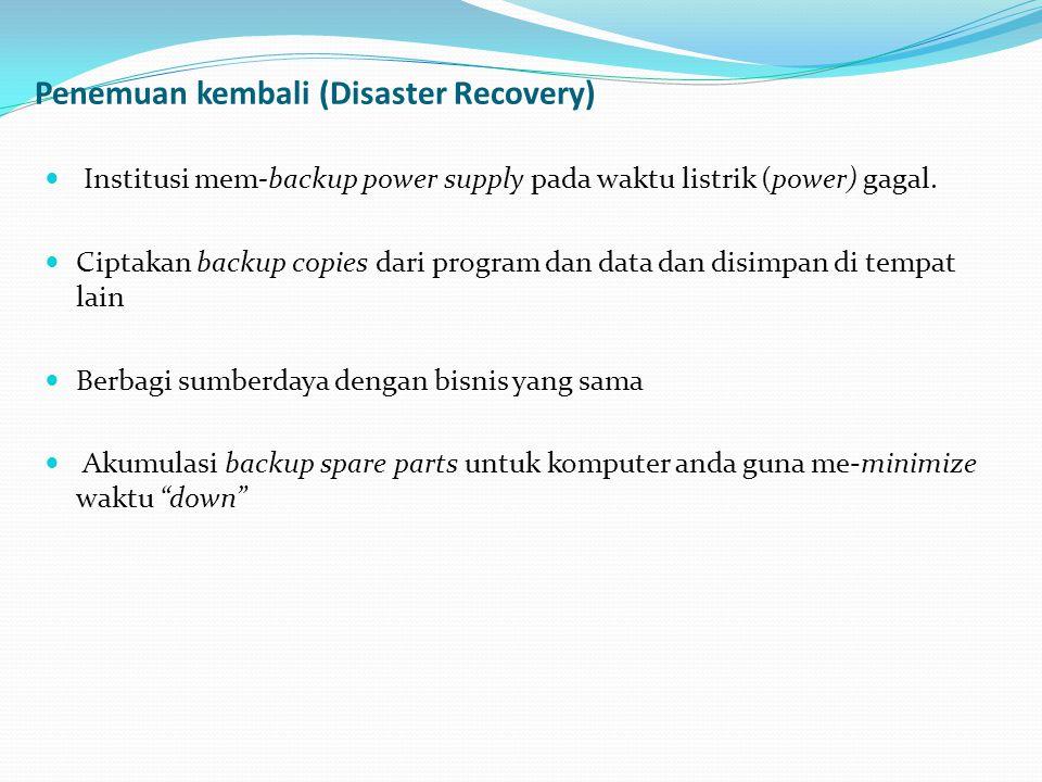 Penemuan kembali (Disaster Recovery)