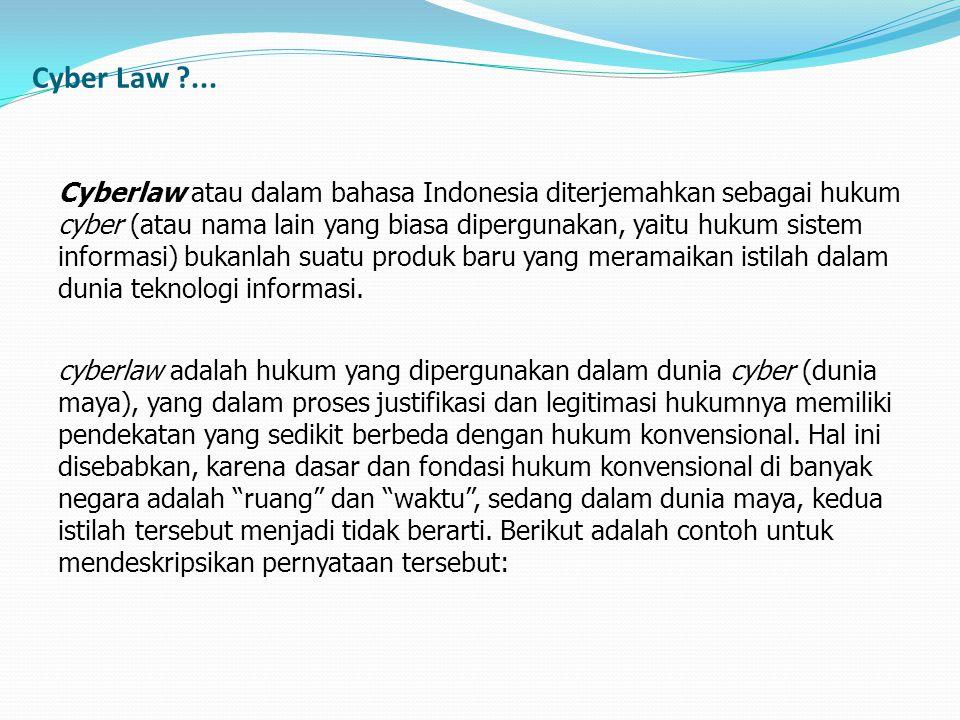 Cyber Law ...