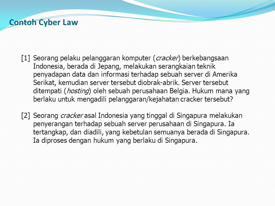 Contoh Cyber Law