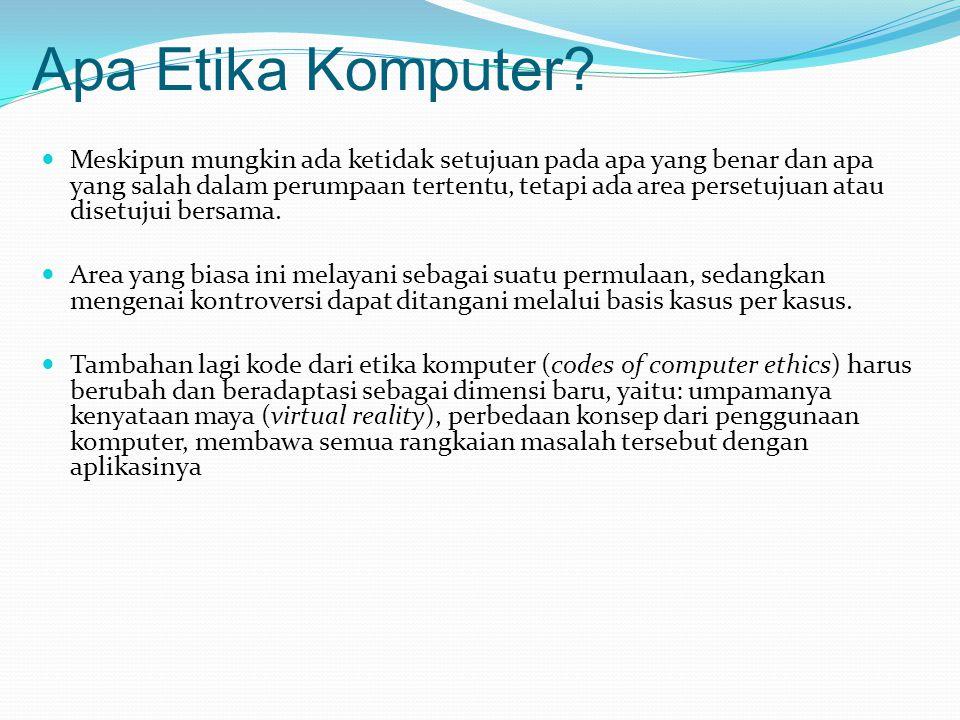 Apa Etika Komputer