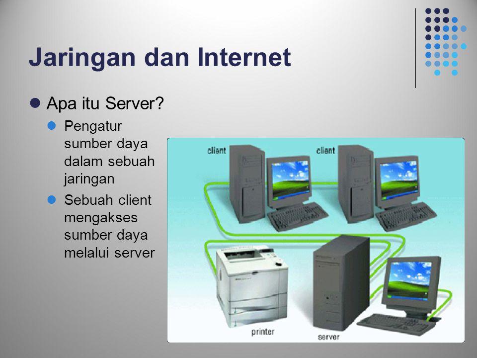 Jaringan dan Internet Apa itu Server