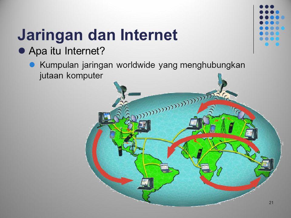 Jaringan dan Internet Apa itu Internet