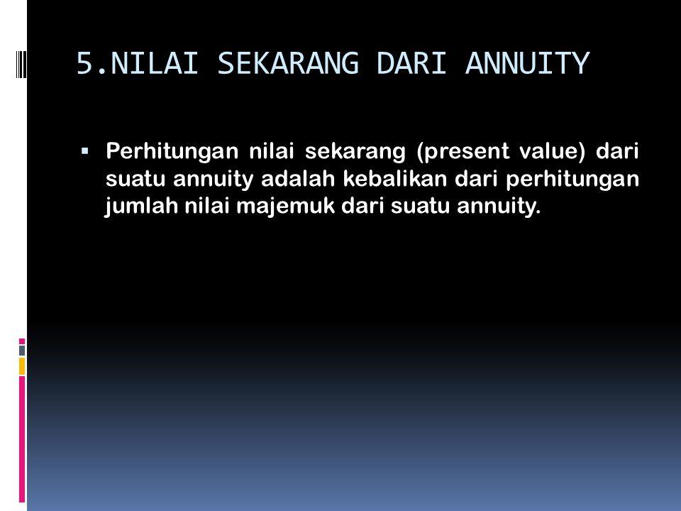5.NILAI SEKARANG DARI ANNUITY