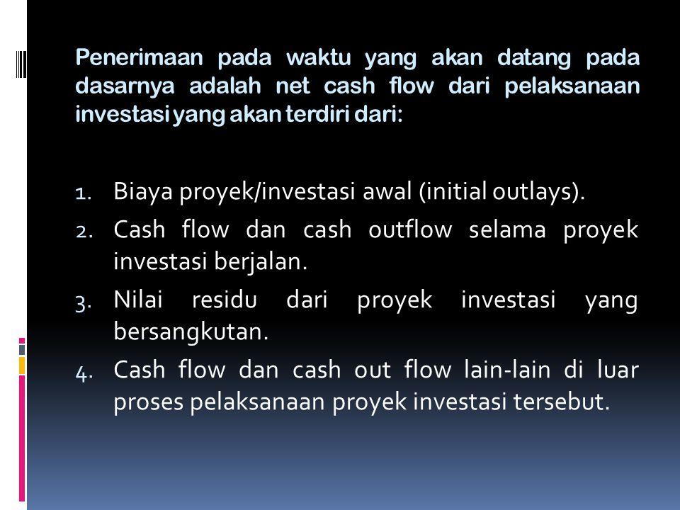 Biaya proyek/investasi awal (initial outlays).
