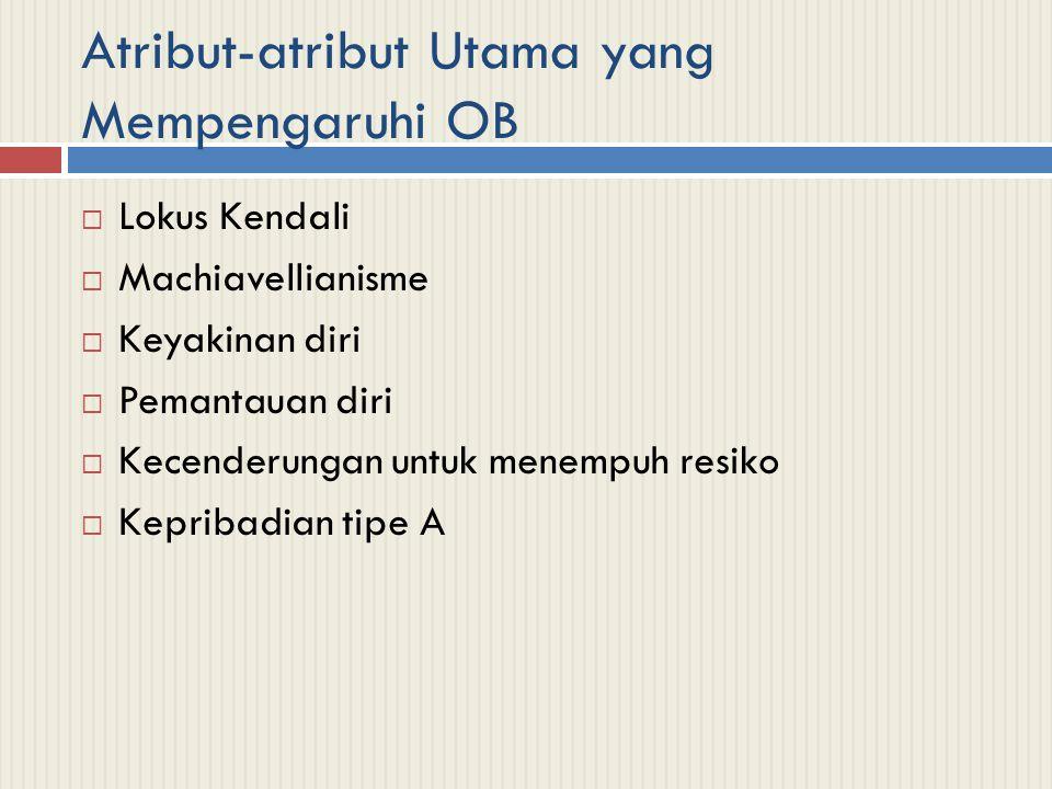 Atribut-atribut Utama yang Mempengaruhi OB