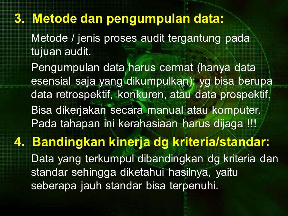 3. Metode dan pengumpulan data: