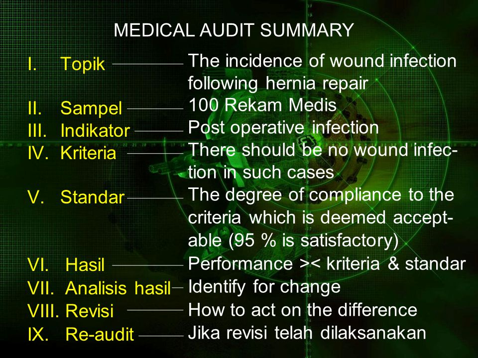 MEDICAL AUDIT SUMMARY Topik
