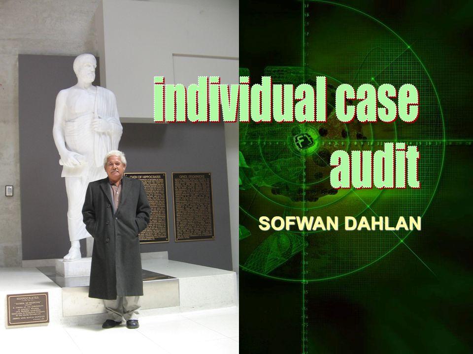 individual case audit SOFWAN DAHLAN