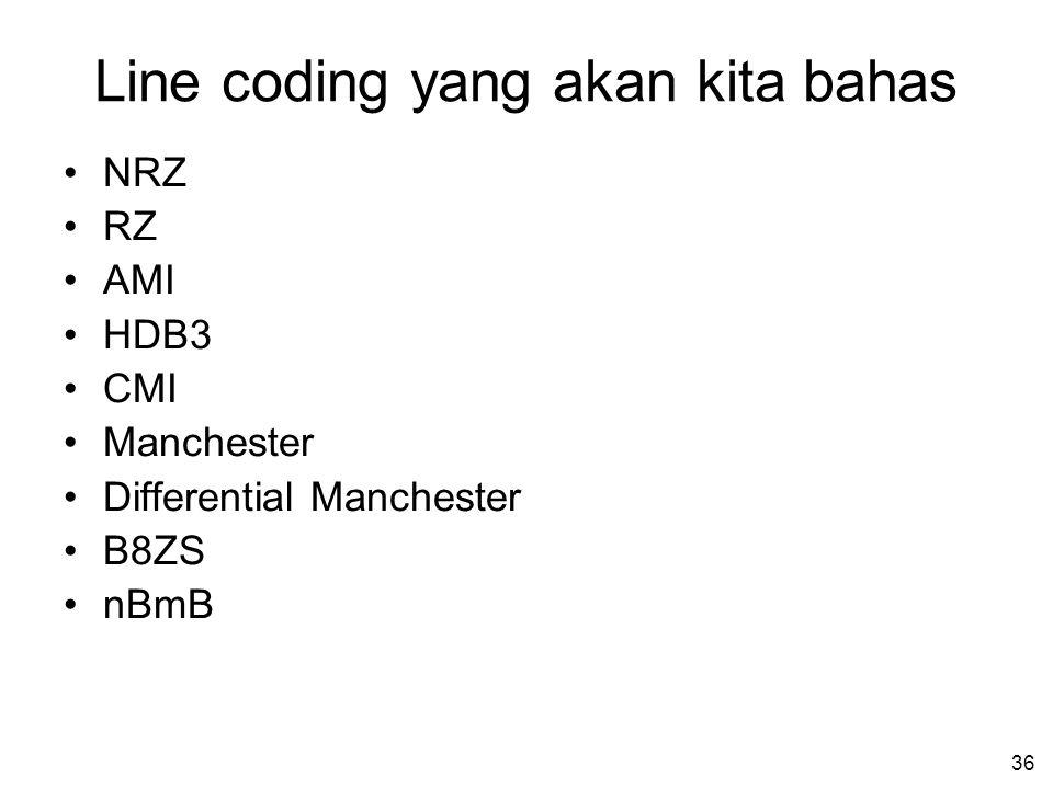 Line coding yang akan kita bahas