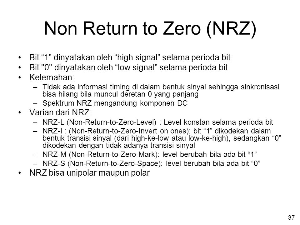 Non Return to Zero (NRZ)
