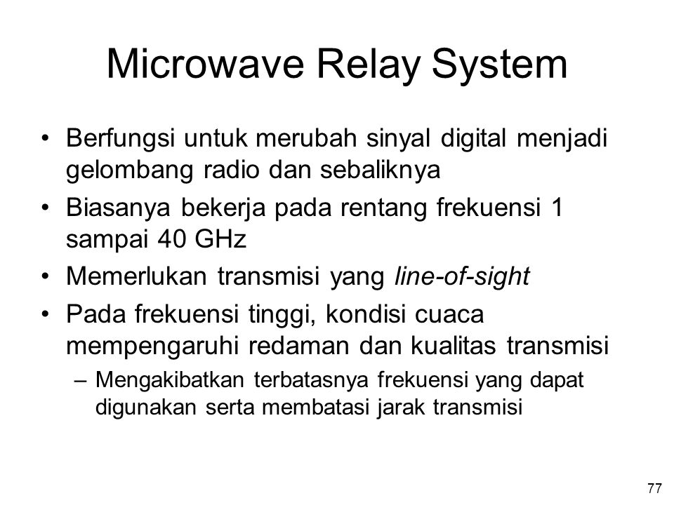 Microwave Relay System