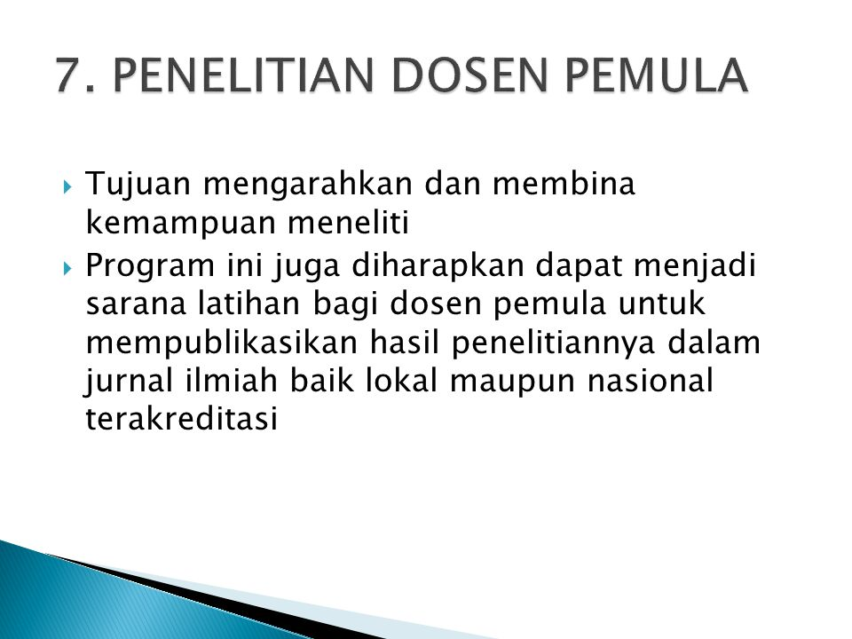 7. PENELITIAN DOSEN PEMULA